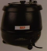Stainless Steel Soup Warmer 10.5 qt - Black
